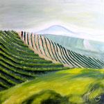 Weinberg, Öl auf Leinwand, 70/70 cm, Vivian Wieling, 270 Euro