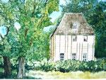 Goethes Gartenhaus, Aquarell, ca. DIN A 4, Barbara Rank, 150 Euro