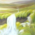 Fluss des Lebens, Öl auf Leinwand, 95/95 cm, Vivian Wieling, 410 Euro