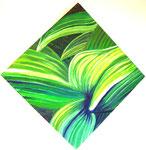 Blätter, Öl auf Leinwand, 50/50 cm, Barbara Rank, 270 Euro