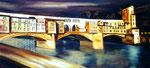 Ponte Vecchio, Öl auf Leinwand, 150/70 cm, Vivian Wieling, 490 Euro