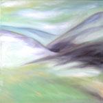 Mountain Highlands, Öl auf Leinwand, 70/70 cm, Vivian Wieling, 290 Euro
