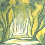Grüner Weg, Öl auf Leinwand, 70/70 cm, Vivian Wieling, 350 Euro