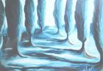 Traumpfad, Öl auf Leinwand, 100/145 cm, Vivian Wieling, 490 Euro