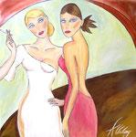 Les Belles, Öl auf Leinwand, 100/100 cm, Vivian Wieling, 390 Euro