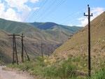 en route vers le coeur de la réserve naturelle du Kirghizistan