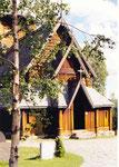 la porte d'entrée de la stavkirke d'Hedalen