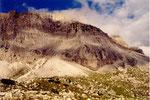 les parois au dessus du Passo di Falzarego