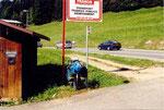 en descendant de Megève sur St Gervais