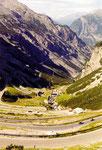la montée (par l'ouest) au Passo di Stelvio