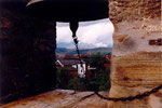 sur le clocher de Molinaseca