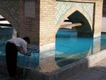 ablution à la mosquée du vendredi (Masjed-e Jamé)