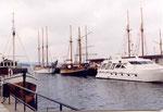 un trois-mâts dans le port d'Oslo