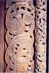 des motifs entrelacés viking de la stavkirke