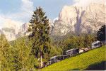 mon camping au pied des Dolomites