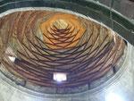 le magnifique dôme de bois de l'Ulu cami (XIIème siècle) d'Erzurum