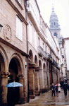 des arcades à Santiago
