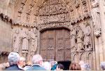 le porche de la cathédrale de Leon