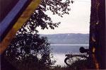 le lac, devant ma tente