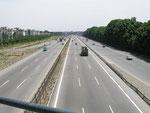 l'autoroute d'arrivée sur Téhéran