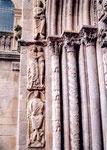 David sur la cathjédrale de Santiago