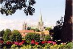 la cathédrale et le parc de Strondheim