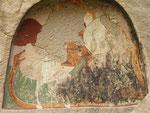 St Georges  sur son cheval terrasse un serpent à 2 têtes