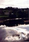 reflets dans le fjord vers Mo I Rana