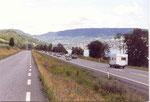Lillehammer; la E6 et la petite route