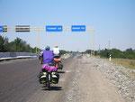 l'autoroute Samarcande-Tachkent