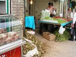 étal de légumes à Tabriz