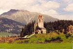 une église ruinée