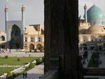 vue du palais Ali Qapu, la mosquée de l'imam