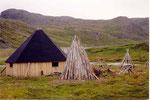 habitat traditionnel sami à découvert