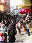 dans une ruelle du Bazar (32 kilomètres de magasins)