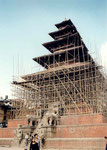 temple en réfection à Bhaktapur
