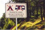 une pancarte en romanche, la 4ème langue parlée en Suisse après le français, l'allemand et l'italien