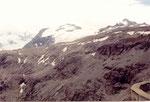 au dessus du col, les glaciers ...