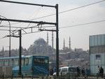 mosquée de l'autyre côté du pont de Galata
