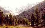 en montant au col de la Bernina