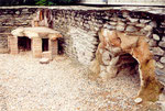 amphithéâtre romain de Martigny: le chauffage par le sol
