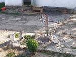 la pompe à eau dans la cour