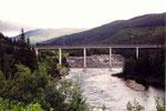 le pont avant d'arriver à Mo I Rana