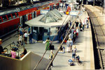la gare de Hambourg sous la canicule
