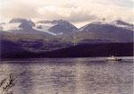 bateau sur le Lyngenfjord