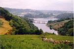 la retenue du barrage de Portomarin