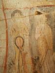 St Onuphrius, mi-homme, mi-femme dans la chapelle Yilanli Kilise
