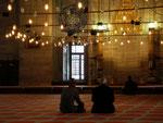 croyants de la mosquée Suleymanié (mosquée de Soliman le magnifique)
