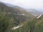 la route des camions de minerai