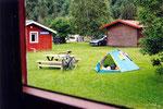 ma tente et mon vélo au camping de Korgen